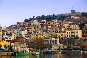 View from Kavala, town situated in northern Greece
