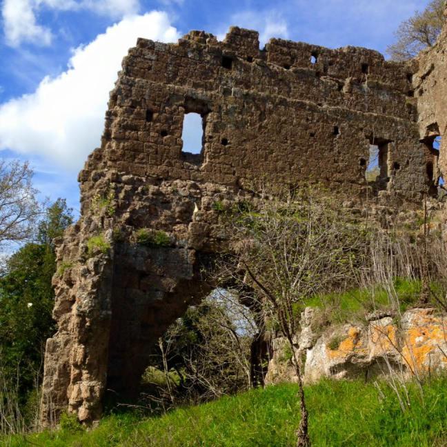 """Domenica 22/3-ARCHEOTREKKING:""""Un castello scomparso, Castel d'Ischia, a controllo di una antica via romana e medievale"""". (VT)"""